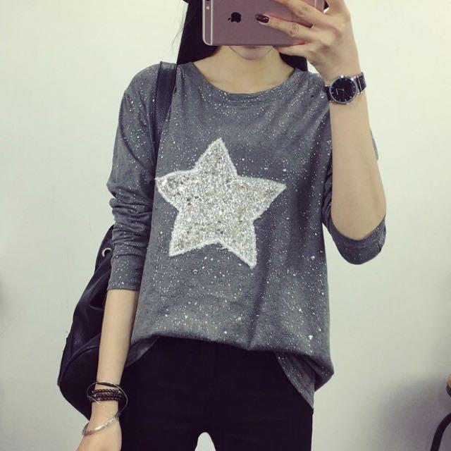 New Star Printing Long Sleeve T-Shirt