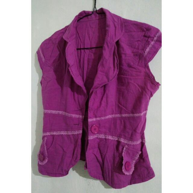 No Brand Magenta Vest