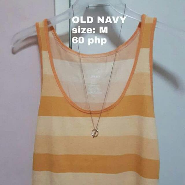 Orange Long Sando Top