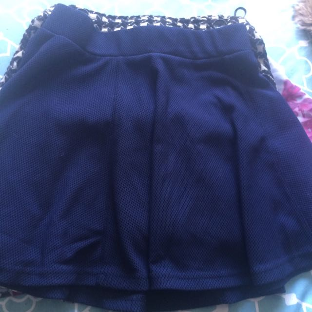 Paint It red Skater Skirt (navy Blue )