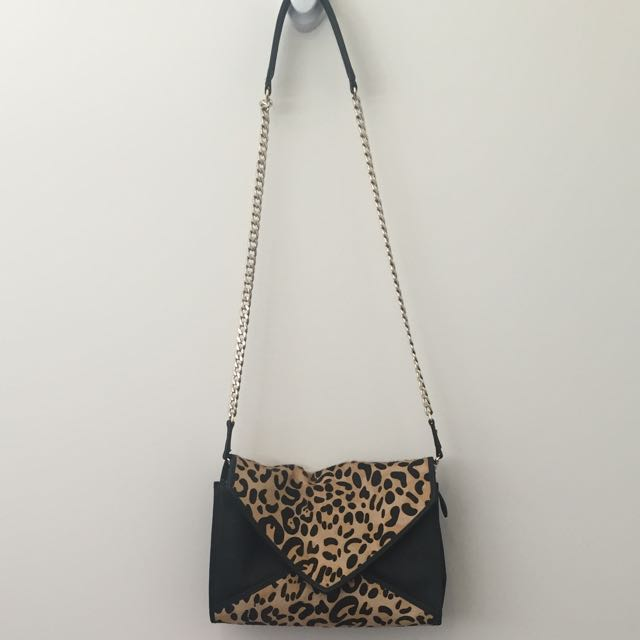 Peeptoe Leopard Print Pony Hair Clutch