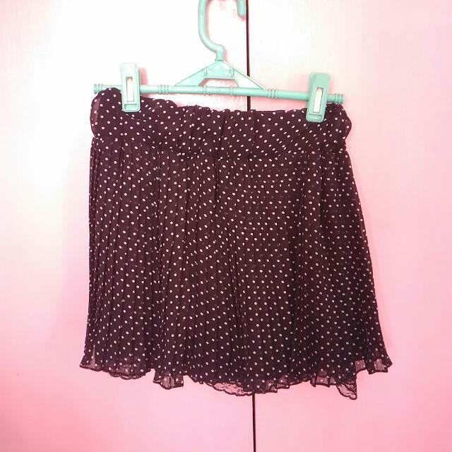 Polka Dots Chiffon Skirt