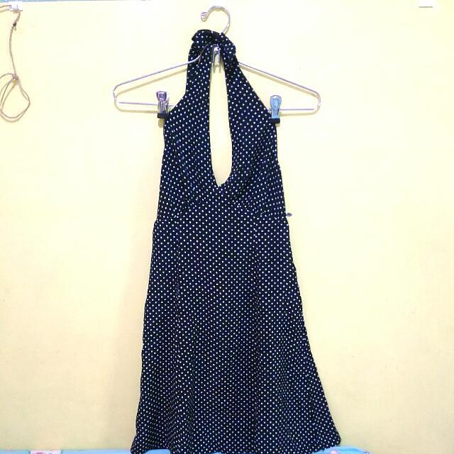 Polkadot Halterneck Dress