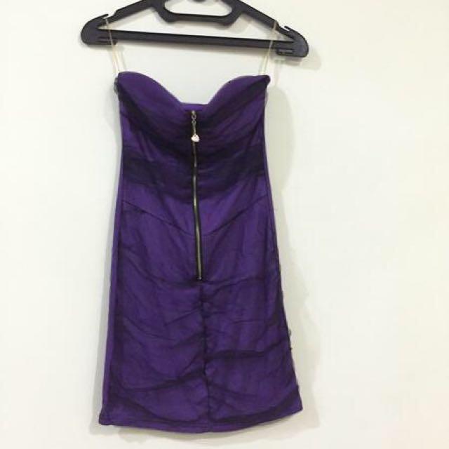 preloved sexy purple dress