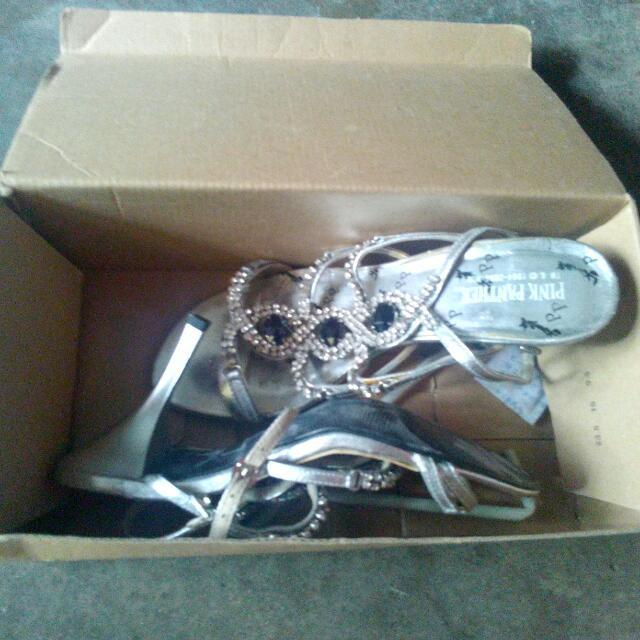 Preloved Silver Sandals