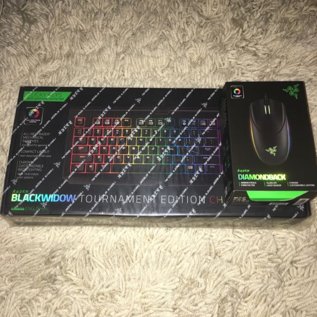 Razer Blackwidow Tournament Edition Chroma & Razer Diamondback