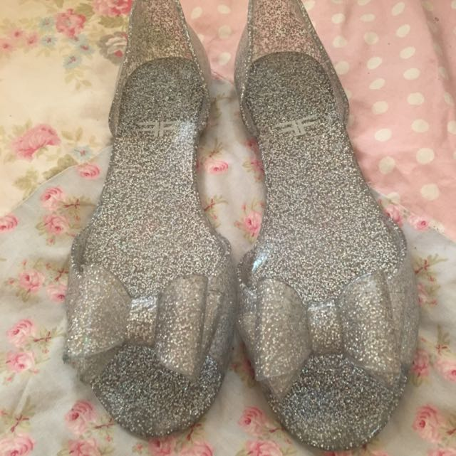 Size 37 Glitter Jelly Sandals