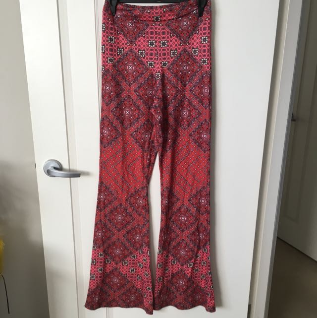 Size Small Mink Pink Flare Pants