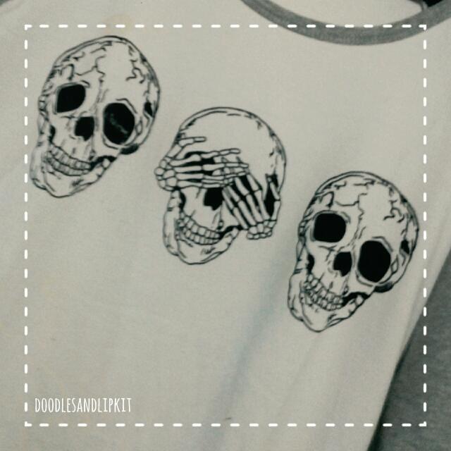 Skull Print Skater Top