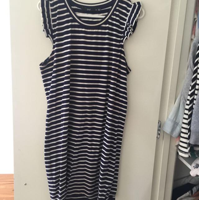 Sportsgirl Blue & White Striped Dress
