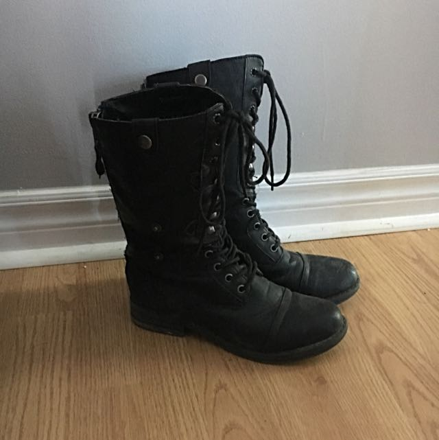 Size 6 Spring Lace Up Boots