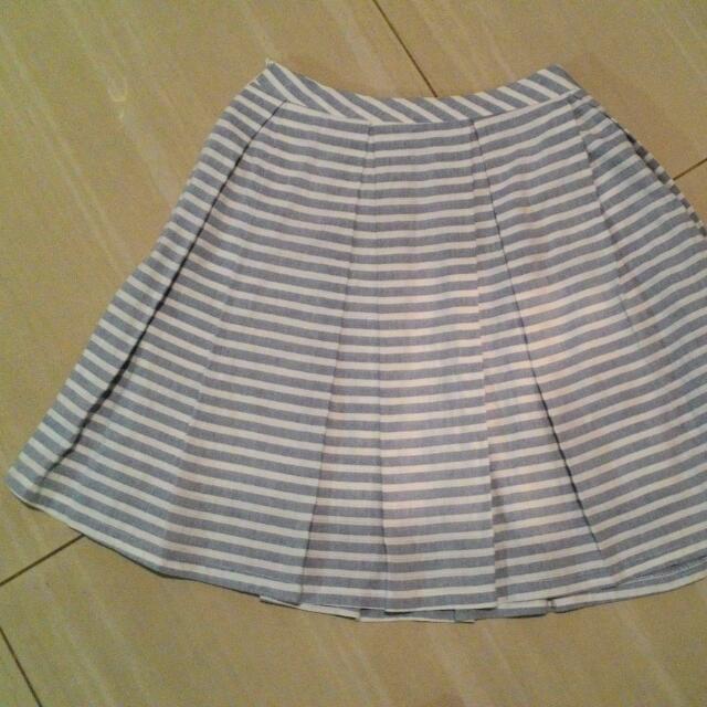 Stripe Flare Skirt