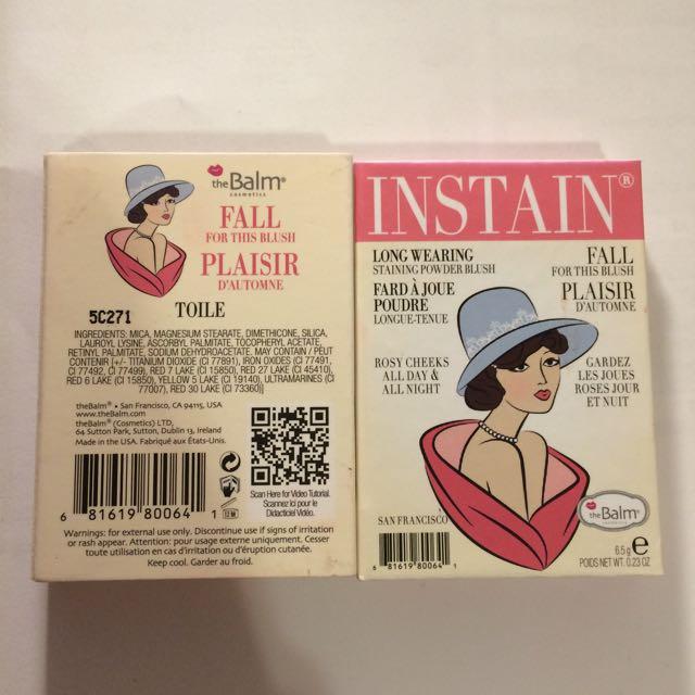 The Balm Instain Blush Toile