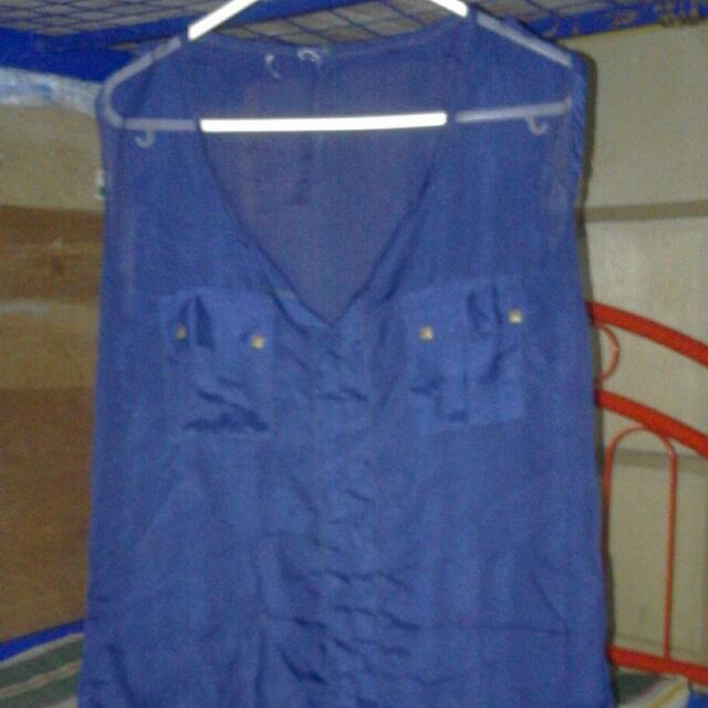 Transparent Blue Top