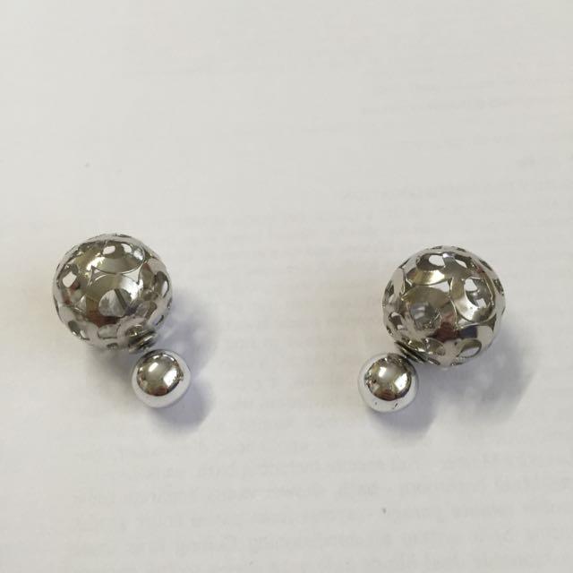 Unique Silver Colour Earrings