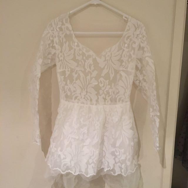 White Delicate Dress- Size 6-8