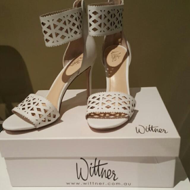 White Wittner Heels