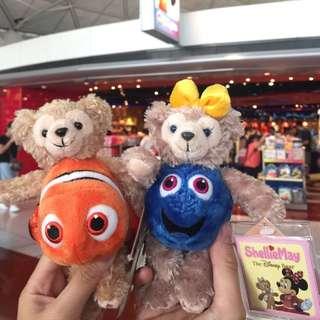 現貨 香港迪士尼 全新正品 海底總動員 尼莫 多莉魚 Duffy&Shelliemay 達菲 雪莉梅鑰匙圈