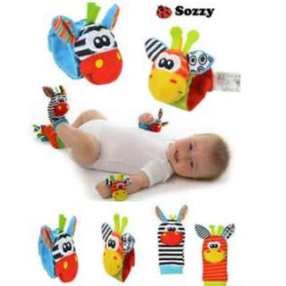 Sozzy Wrist Rattles and Foot Finders