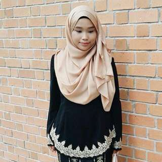 Halimah Embroidered Top In BLACK