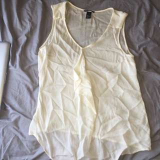 Sheer H & M Tank Top Blouse