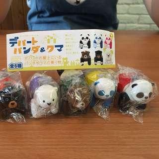 (扭蛋)動物園熊貓車