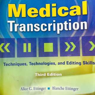 Medical Transcription 3rd Edition For Sale