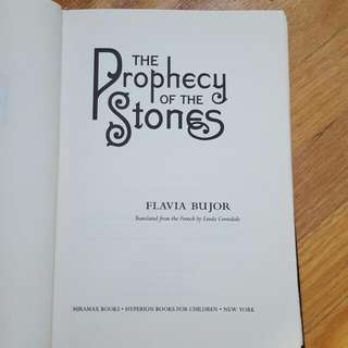 Prophecy of the Stones by Flavia Bujor