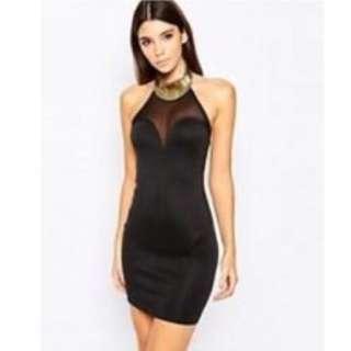 XS Bandage Dress High Neck