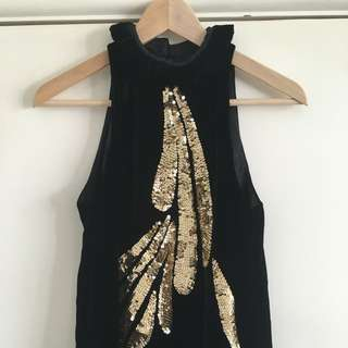 Sass and Bide sequenced navy halter