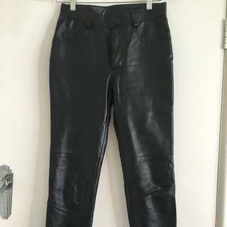 Fitted Straight Leg Custom Leather Pants