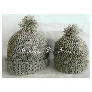 Crochet Mommy And Baby Beanie