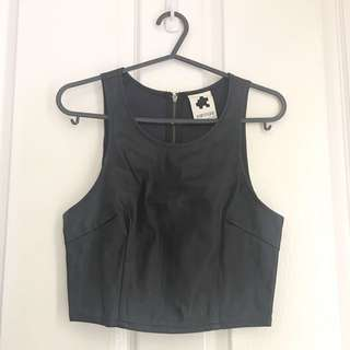 Faux Leather Crop Top