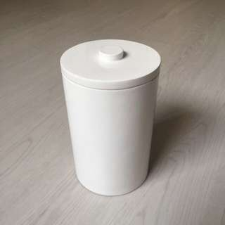 Home Decor: Decorative white Storage Container Cylinder