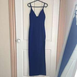 Cocktail Blue Split Gown Size 8