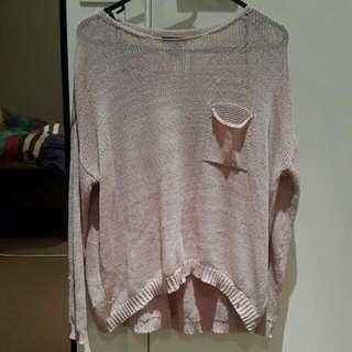 H&M Light Weight Thin Pink Sweater