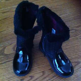 Girls Toddler Size 8 Black Boots