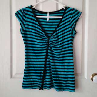 Cotton On Striped Button Top, S