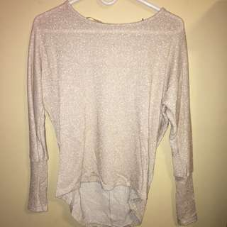 Sparkly Beige Sweater