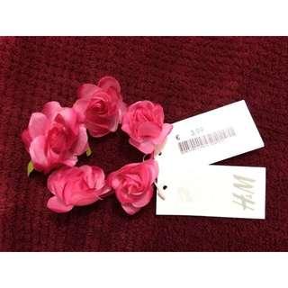 H&M Pink Rose Hair Tie