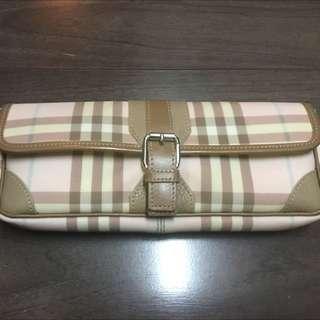 Burberry Pink Nova Check Convertible Clutch Bag