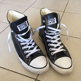 Leather Converse 42