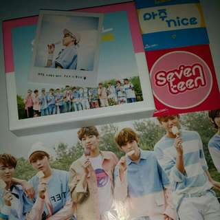 Pending! (WTS) SEVENTEEN AJU NICE W/ THE8 POLARIOD & POSTER 🍦💎