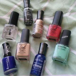 Assorted Nail Polish - Together Or Individual. See Description.