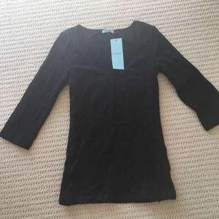 Kookai Black Basic Long Sleeve