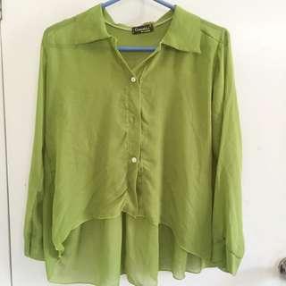 Green Sheer Blouse