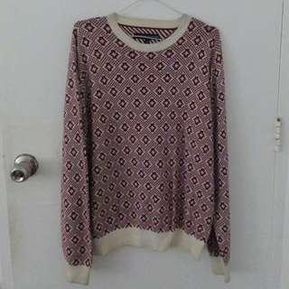 Tommy Hilfiger Maroon Sweater