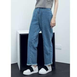 降價💥歐美 街頭 復古 BF 寬鬆 顯瘦 直筒 牛仔褲