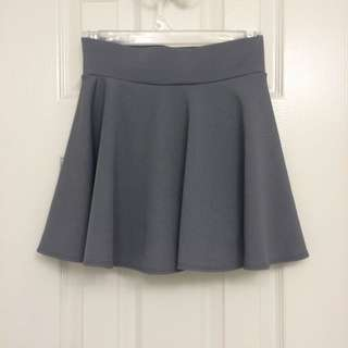 High-waisted Grey Skirt