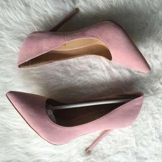Public Desire Blush Pink Heels Size 5 UK / 7 Au